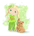 girl blond gold 1 vector image
