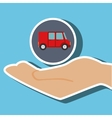 hand shipping cargo attention vector image