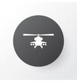 helicopter icon symbol premium quality isolated vector image