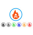 hellfire rounded icon vector image vector image