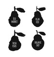 ink drawn pears vector image vector image
