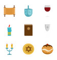 israel icon set flat style vector image