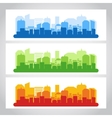 Landscape City Banner Color vector image vector image
