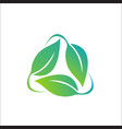 leaf - nature icon logo vector image