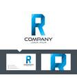 letter r - logo design vector image