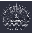 Life is journey 1 vector image vector image