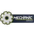 mechanic service maintenance logo design vector image vector image