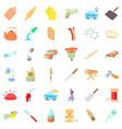 metier icons set cartoon style vector image vector image