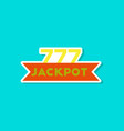 paper sticker on stylish background jackpot lucky vector image vector image