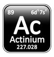 Periodic table element actinium icon vector image