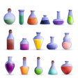potion icon set cartoon style vector image