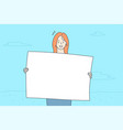 promotion business advertising protest concept vector image vector image