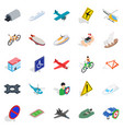 rent transport icons set isometric style vector image vector image