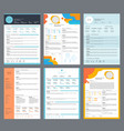 resume template minimalist business curriculum vector image