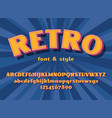 retro font and graphic style vector image