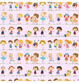Seamless design with kids vector image vector image