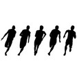 set athletics runners sprinters vector image vector image