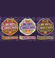 set for merry christmas vector image vector image