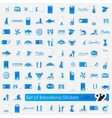 Set of Barcelona stickers vector image vector image