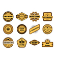 Set of vintage brown labels vector image