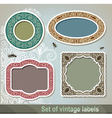 Set of vintage label and frame vector image