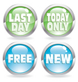 set sale button vector image