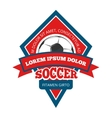 soccer logo badge emblem template in red vector image vector image