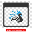 Sparkle Rooster Calendar Page Eps Icon vector image vector image