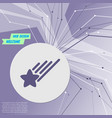 star icon on purple abstract modern background vector image vector image