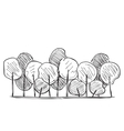 Trees hand drawn vector image