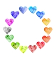 triangle pattern in heart shape Set of vector image vector image