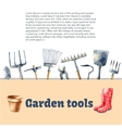 Watercolor garden tools set vector image