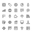 web and mobile ui line icons 12 vector image vector image