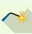 welder light for work icon flat style vector image vector image