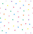 white seamless minimalistic pattern with colorful vector image vector image