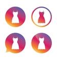 Woman dress sign icon Elegant clothes symbol vector image vector image