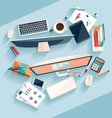 Workplace concept vector image vector image