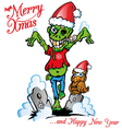 zombie marry x mas vector image
