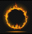 ring of fire flame vector image