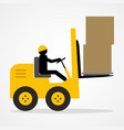 stick figure driving a forklift vector image