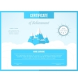 Certificate template for achievement Bright vector image