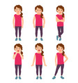 little girls emotions vector image