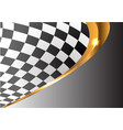 checkered gold line curve gray gradient sport race vector image