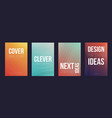 set of 4 cover magazine template cover vector image