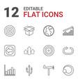 12 arrow icons vector image vector image