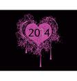 2014 heart vector image vector image