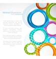 Abstract colourful circle vector image