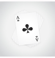 Ace of Clubs vector image vector image