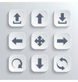 Arrows icon set - white app buttons vector image vector image