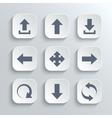 Arrows icon set - white app buttons